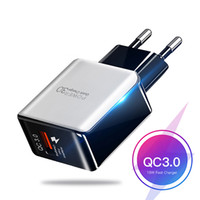QC 3.0 빠른 벽 충전기 USB 빠른 충전 5V 3A 9V 2A 여행 전원 어댑터 빠른 충전 Samsung 용 미국 EU 플러그
