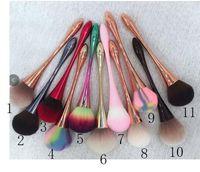 1 * فرشاة تنظيف الغبار الأظافر (2/3 ألوان) مسمار تنظيف فرشاة التدرج الغبار بريق مسحوق مسحوق المزيل القلم مانيكير مسمار الفن أدوات