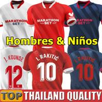 20 21 Sevilla FC Camisetas de fútbol EVER BANEGA 2020 J.NAVAS NOLITO DE JONG conjunto de camiseta de fútbol 2021 MUNIR L.OCAMPOS DABBUR Hombres Kit para niños uniforme