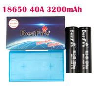 Authentisches Bestfire 3200mAh 40A 18650 Batterie Black Color Wiederaufladbare Lithium-Vape-Batterie Max-Entladung 40A