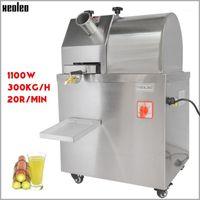 xeoleo السكر قصب عصارة السكر التجارية قصب الصحافة آلة عصير صانع 300kg / ساعة عصير الفولاذ المقاوم للصدأ آلة 220V1