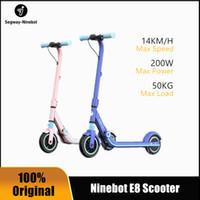 Ninebot n ° 9 enfants scooter électrique E8 bleu 6-12 ans adolescents pliables scooter à deux roues scoûter la voiture électrique
