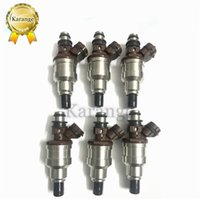 6 adet 23250-35040 23250-65020 TOYOTA 4RUNNER PICKUP 89-95 3VZE 3.0L V6 Için Yakıt Enjektörleri
