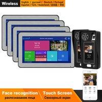 شاشة Homefong IP الجرس WIFI الاتصال الداخلي عبر الفيديو اللاسلكية التعرف على الوجه الداخلي النظام أطقم اللمس دعم التحكم الذكية الهاتف