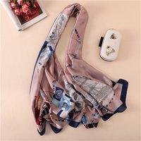 Весна, летние и осень Новый корейский издание цветы простой, но элегантный высококачественный шелковый шарф женский декоративный шаль на солнцезащитный пляж до 002