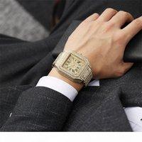 Оптом высококачественные мужские модные часы сверкающие алмазные часы полные замороженные часы из нержавеющей стали кварцевые движения вечеринка спортивная наручная чашка