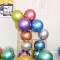 جولة المعادن اللاتكس بالونات الذهب والفضة الأزرق الأرجواني 10 بوصة 1.8 جرام زفاف عيد ميلاد مهرجان حزب الزخرفية بالونات 50 قطعة / الحقيبة
