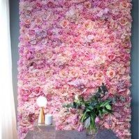 40x60 سنتيمتر الحرير روز زهرة الشمبانيا الاصطناعي زهرة ل زفاف الديكور زهرة لوحات الحائط رومانسية الزفاف خلفية ديكور T200509