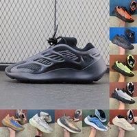 고품질 700 오렌지 형광체 검은 여자 망 실행 신발 정적 vanta 700 V3 자석 Azael 럭셔리 남작 트레이너 스니커즈 크기 36-45