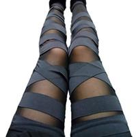 Leggings Leggings Charming Leggins Slim Women Punk Legins Leminina 2021 Sexy calças de splicing esticar recolhimento de calças pretas