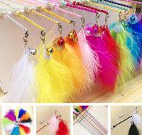 USD1.85 / PC frete grátis para animais de estimação gato gatinho brinquedos pólo pólo gato jogando brinquedos mistos cores 20 pcs / lote