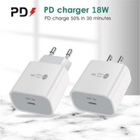 Type-C 18W PD Быстрая зарядка 18 Уолт Power QC3.0 Устройство быстрого зарядного устройства для настенного устройства с портами USB-C для iPhone 12 HTC