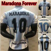Argentinien Memorial Maradona 2020 Fussball Jersey Napoli Football Hemd Boca Junior Camiseta de Futbol Newells Alte Jungen Maillot de Foot
