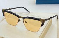Новые моды дизайн солнцезащитные очки 0660 квадратная половина рамки бамбуковая форма дизайн рамка высочайшее качество популярный стиль UV 400 линз очки