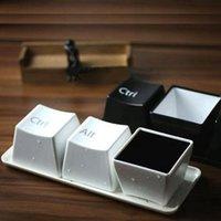 Nouvelle tasse de thé Creative Tea Set Keyboard Fashion Coupes Noir Ctrl Del Alt 3 Morceaux / Mugs Promotion Cadeaux Coffee Tasse Coupes et tasses