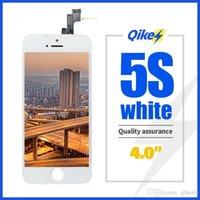 الجملة الهاتف المحمول شاشة LCD شاشة تعمل باللمس محول الأرقام الجمعية استبدال آيفون 5S أبيض نوعية جيدة