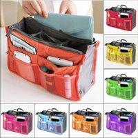 Saco cosmético portátil Double Zipper Armazenamento Sacos Multi Camada Multi-funcional Bolsa de Telefone Inserir Organizador Organizador Sacos de Curso DDC4350