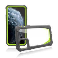 2 in 1 투명한 명확한 공간 Shockproof Armor Case for iPhone 12 미니 11 Pro Max XR XS x 6 7 8 Plus