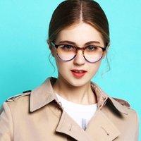أزياء النظارات الشمسية إطارات 2021 تصميم اليدوية خلات النظارات وصفة الألوان النظارات النظارات ضوء الأزرق حظر