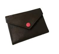 2021 Mulheres Designer Carteira Carteira de Luxo Fold Carteira de boa qualidade Pacote de cartão de couro senhoras com cartão de caixa