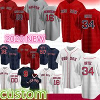 Boston Custom 50 Mookie Betts Baseball Jerseys 9 Ted Williams 16 Andrew Benintendi 34 David Ortiz 28 JD Martinez 26 Wade Boggs 41 Chris Venda