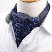 ربط الرقبة الرجال خمر ربطة العنق cravat أسكوت الحمولة الذاتي البريطانية البولكا زهرة رجل البوليستر الحرير التعادل الفاخرة التمويه 1