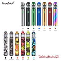 Freemax Twister 80W Starter Kits 2300mAh Bateria com Fireluke 2 Tanque X1 X2 X3 Malha Coil Vape Pen Kit 100%