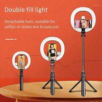 رؤساء فلاش XT18S المحمولة Selfie Ring LED مع حامل ترايبود وحامل الهاتف المدمج في مصباح البطارية لجعل الوقوف ل makeup1