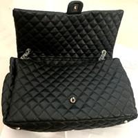 Bolsas de lona de gran capacidad Moda Mujeres 46cm Hombro acolchado Compras de lujo Monedero Bolsa de aeropuerto Bolsas de viaje