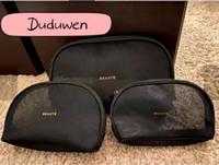Conjunto de 3 sacos (preço para 3 sacos) moda mulheres transparente malha cosetics organizer c maquiagem sacos de maquiagem