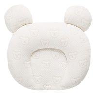 0-12m travesseiro de bebê cabeça plana, respirável descanso recém-nascido criança infantil para forma de cabeça, ergonômico natural de látex travesseiro
