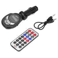 Черный Автомобиль MP3-плеер Беспроводной FM-передатчик Модулятор с USB CD MMC Remote Kit Black Auto Charger