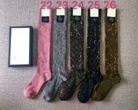 Calcetín de algodón de algodón caliente para mujeres 42 colores moda damas niñas ropa callejera otoño invierno grueso cálido oro alambre calcetines deportes medias