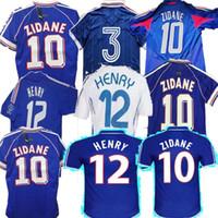 1998 Retro 2002 Zidane Henry Soccer Jerseys 1996 2004 Fußball 1984 Hemd Trezeguet 1982 Final 2006 Deschamps 2000 06 MAILTOT DE FOOTBAL