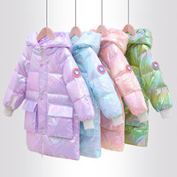Fashion Shiny Winter White Duck Down Long Child Coat Baby Boys Girls Down Jacket Warm Children Outfits Kids Clothes For 1-7y Y1117
