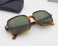 Telaio quadrato Lente in vetro UV400 Top Quality Multi Color Sunglasses da uomo maschio femmina Guida occhiali da sole occhiali pendenza GAFAS