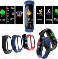M3 Smart Armband Armbänder Herzfrequenz Blutdruck Telefon SMS Multi-Sport-Modus Wetter Automatische Helle Bildschirm MI Band 3 Armbänder Kostenloser DHL