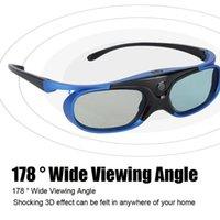 Aktif Pil ile Deklanşör 3D Gözlük USB Şarj Edilebilir Kolay Giymek LCD Çip Görsel Kullanım DLP Bağlantı Projektörü için Katlanabilir