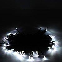 新しいデザイン50 LED太陽電動純ホワイトホワイトホワイトストリングライトクリスマスガーデンデコホリデーLED弦の無料配達