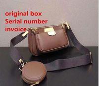 Bolso de bolso de bolso de bolso bolso bolso bolso bolso de mano bolsa de teléfono bolsas de teléfono de tres piezas de compras gratis con caja