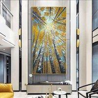 Dipinti Grandi immagini moderne verticali Immagini decorative Abstract Art Acrilico Paesaggio Tela per soggiorno Parete