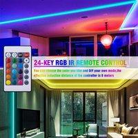الجملة 12V-5050 RGB WIFI التحكم عن بعد 10 متر 24 مفاتيح 300 أضواء (40W) ضوء الشريط المزدوج القرص ماء عكس الضوء أدى شرائط