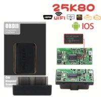 새 버전 블루투스 슈퍼 미니 ELM327 V2.1 검정 OBD2 / OBDII ELM 327 25K80 WiFi 자동차 코드 스캐너 자동 리더