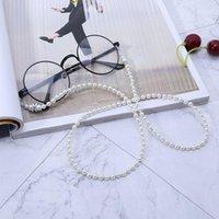 نظارات شمسية أكياس 2021 أبيض تقليد اللؤلؤ مطرز النظارات النظارات نظارات القراءة نظارات سلسلة حامل الحبل الحبل الشريط necklac