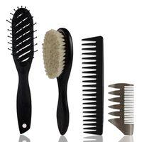 Haarbürsten 4pcs / set Massage Kammbürste Bartöl Anti Statik Richtpflege