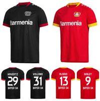 2020 2021 04 Bayer Leverkusen Soccer 29 Havertz Jersey 31 Volland 9 Bailey 13 Alario 19 Diaby 4 TAH Demirbay Football Hemd Kits