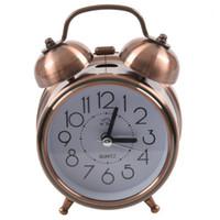 Другие часы аксессуары Классический бесшумный металл двойной колокольчик будильник кварцевый движения прикроватный ночью Light1