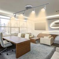 LED Multi-Head Spotlight Track Lights Focus a focus regolabile illuminazione regolabile 4 illuminazione a soffitto salotto da interno (senza lampadina)