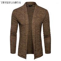 Pulls pour hommes 2021 Printemps Automne Brand Vêtements Pull Hommes Mode Couleur Solide Coldigan Cardigan Ouvrir Point ouvert Sweater1