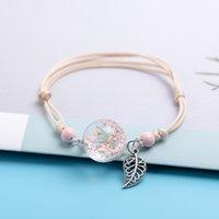 Keramik Perlen Glas Charms Armbänder Kristall Transparenz Blume DIY Boho Keramik Armbänder Party Geschenk # DY522